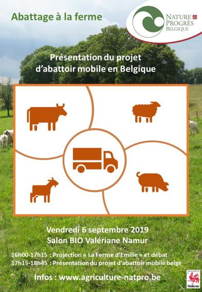 Présentation du projet d'abattoir mobile en Belgique – vendredi 6/09/2019 à Namur