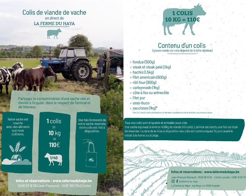 Un nouveau support de communication pour nos colis de viande de vache