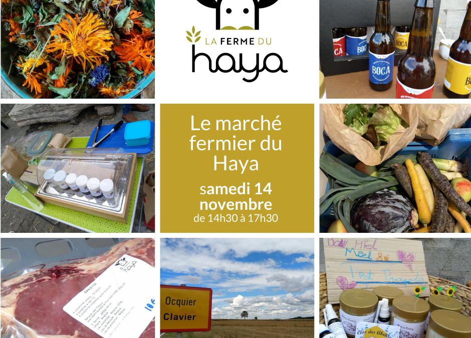 Marché fermier ce samedi 14 novembre