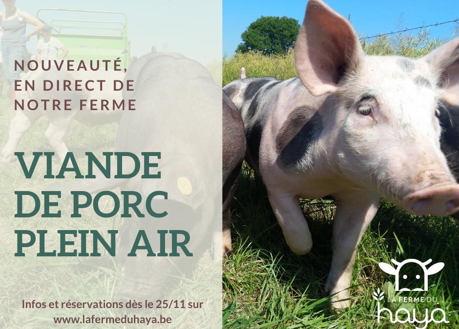 Nouveauté : viande de porc plein air