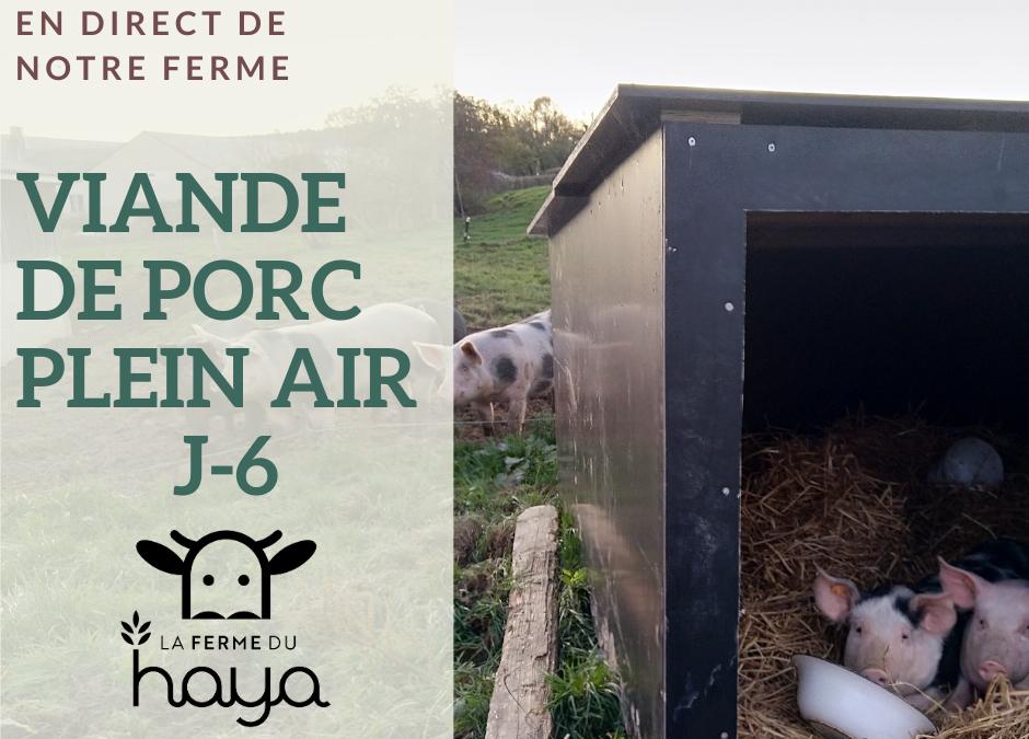 J-6 : viande de porc plein air