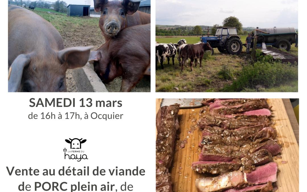 Vente de viande au détail ce samedi 13 mars – réservation en ligne possible dès le 8 mars